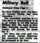 Military Ball, continued