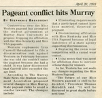 Pageant Conflict Hits Murray by Stephanie Broadbent