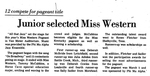 Junior Selected Miss Western by College Heights Herald