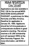 Miss Western Pageant by Western Kentucky University