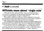 Officials Mum About Virgin Rule by College Heights Herald