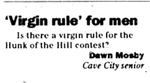 Virgin Rule for Men by Dawn Mosby