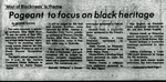 Pageant to Focus on Black Heritage by WKU Student Affairs