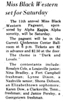 Miss Black Western Set for Saturday by WKU Student Affairs