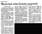 Musician wins Beauty Pageant by Brian Foote