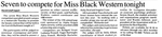 Seven to Compete for Miss Black Western Tonight by WKU Student Affairs