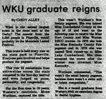 WKU Graduate Reigns