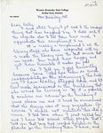 Margie Helm Letter to Kelly Thompson - Page 1 by Margie Helm