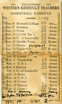1936 - Hilltoppers - 1937 Basketball Schedule by WKU Athletics