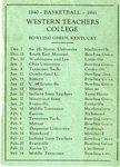 1940 - Basketball - 1941 by WKU Athletics