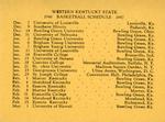 1946 Basketball Schedule 1947 by WKU Athletics