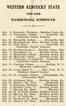 1947-1948 Basketball Schedule by WKU Athletics