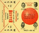 "1956-57 ""Hilltopper"" Basketball Schedule by Holderfield & Pinkerton"