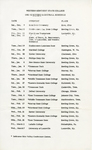 1961-62 Revised Basketball Schedule by WKU Athletics