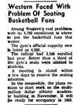 Western Faced with Problem of Seating Basketball Fans by WKU College Heights Herald
