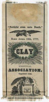 Henry Clay Festival Association commemorative ribbon