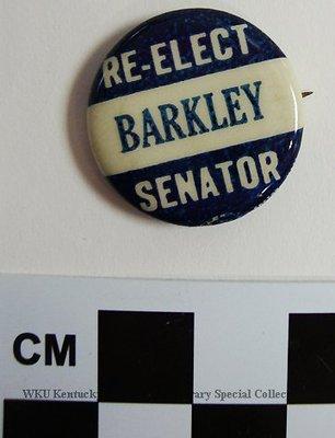 Re-elect Barkley Senator Political Button