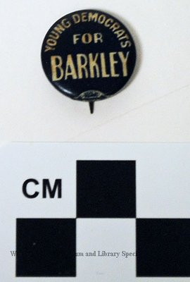 Young Democrats for Barkley political button