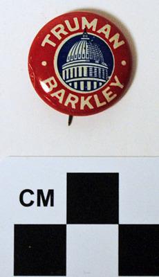 Truman-Barkley Political Button
