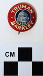 Truman-Barkley Political Button by Kentucky Library Research Collections