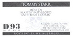 Tommy Starr's Business Card
