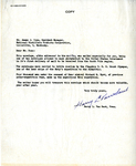 Letter from Harry Van Sant to James Dunn by Harry Van Sant