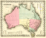 Map of Australia by J.H. Colton & Company