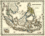 East Indies Map by J.H. Colton & Company