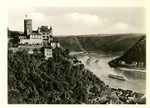 Postcard of Katz Castle above the Loreley Rocks by WKU Library Special Collections