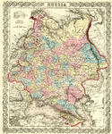 Map of Russia by J.H. Colton & Company