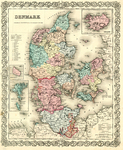 Map of Denmark by J.H Colton & Company