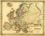 Map of Europe by J.H. Colton & Company