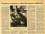 Professor Reminisces About European Childhood by Beverly Bond