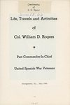 Life, Travels and Activities of Col. William D. Rogers (E729 .R64 1966) by Manuscripts & Folklife Archives