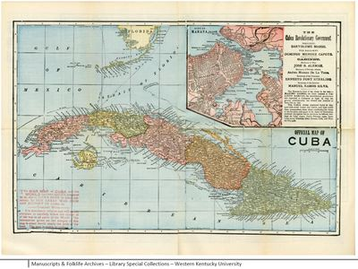 Map of cuba from pictorial history of our war with spain e715 creation date gumiabroncs Images