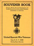 Souvenir Book...Twenty-Ninth Annual Encampment...United Spanish War Veterans (Ephemera W-30) by Kentucky Library Research Collection