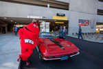 Big Red & a Red Corvette by Clint Lewis