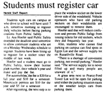 Students Must Register Car